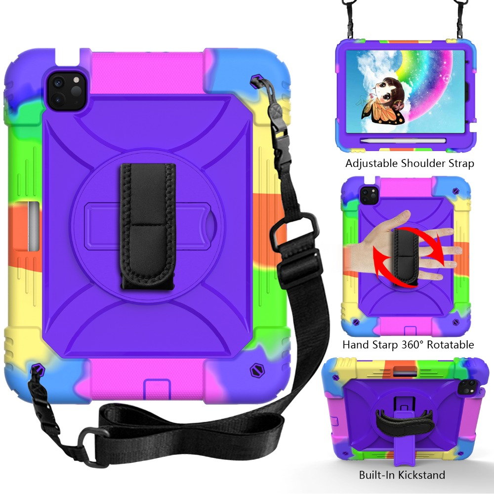 2020 4 Shockproof Armor for For Layers Case Hybird Tablet Case 3 Air 10.9 iPad iPad Kids