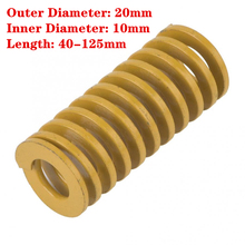 Spring Casting 20mm Yellow Stamping Metal OD TF Mould Length Compression 40-125mm 1pcs