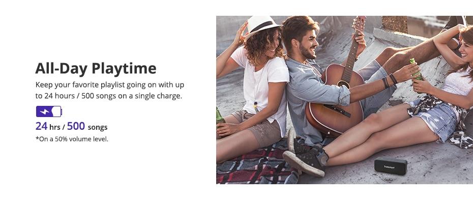 Tronsmart T2 Plus Bluetooth 5.0 Speaker 20W Portable Speaker 24H Column IPX7 Soundbar with NFC, TWS,Voice Assistant,Micro SD (3)