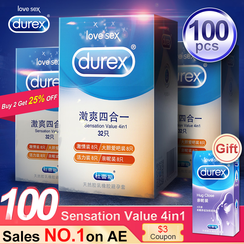 durex sensation - Durex Condom  4 Types Ultra Thin Cock Condom Intimate Goods Sex Products Natural Rubber Latex Penis Sleeve Sex For Men
