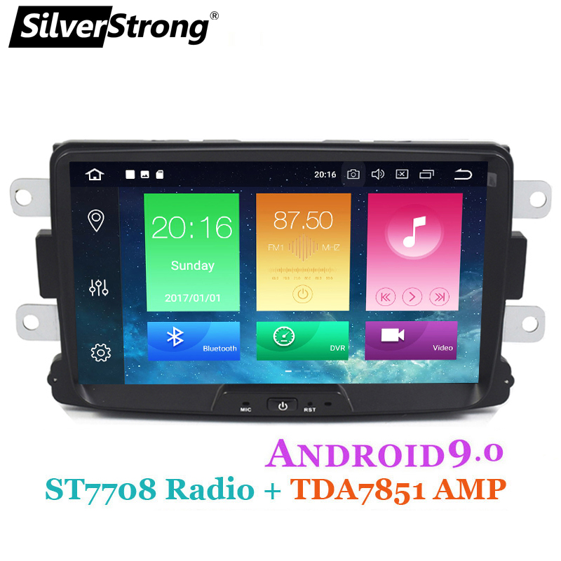 SilverStrong Android9.0 2Din KAPTUR Car GPS For RENAULT DUSTER DACIA LOGAN II DOKKER