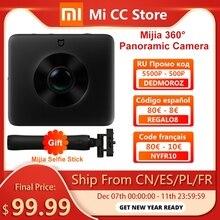 재고 있음 Xiaomi Mijia 360 ° 파노라마 카메라 3.5K 비디오 녹화 구 카메라 IP67 등급 WiFi 블루투스 미니 스포츠 캠코더