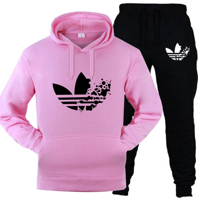 2019 New Fashion Sweater Sportswear Hot Men And Women Thickening Sportswear Hoodies + Pants Sports Jogging Suits