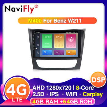 Android 10.0 2.5D IPS Car multimedia player for Mercedes Benz E Class W211 E200 E220 E240 E270 E280 2002-2008 W219 NO DVD image