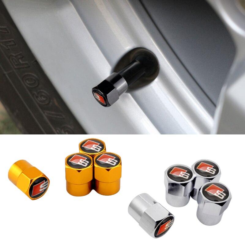 Вентиля покрышек легковых Кепки покрышки для гибкие чехлы из термопластичного полиуретана (A3 A4 B5 B7 B9 A5 A6 C5 C6 C7 A7 Q3 Q5 Q7 RS3 RS4 RS5 колеса аксессуары...