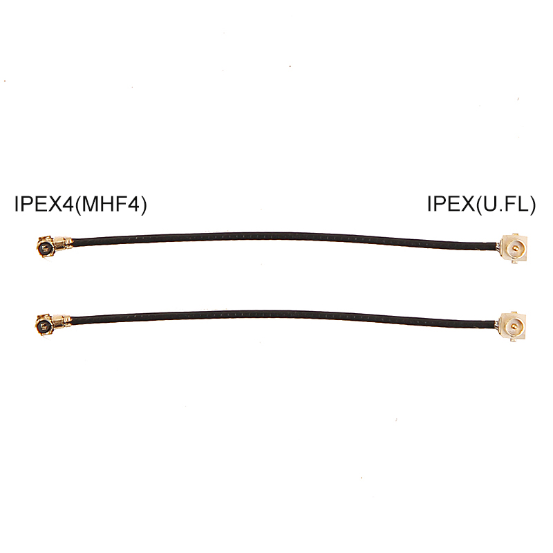 IPEX4 To IPEX IPEX-4 IPEX1 U.FL Antenna Cable MHF4 To U.FL NGFF To PCIe Jack Female Male Connector BCM94360HMB BCM94352Z EM20-G