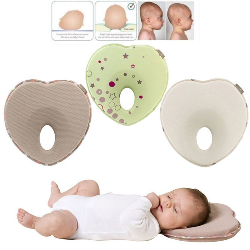 Newborn Infant Anti Roll Pillow Flat Head Neck Prevent Infant Support Baby Crib Flat Head Pillow For Newborn YYT344