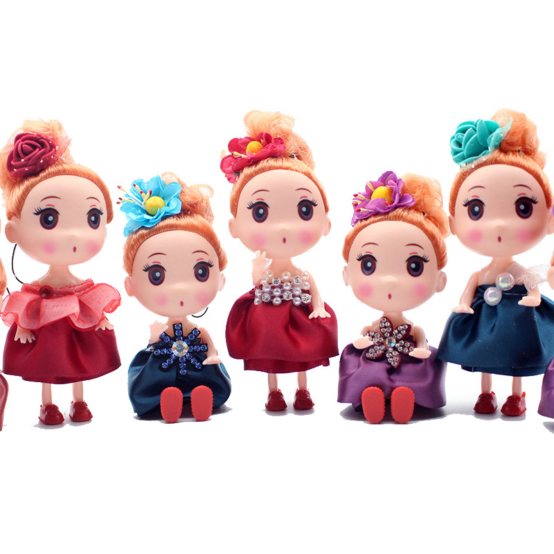 Mini 12cm Confused Dolls Toys Fashion Baby Girl Doll Body Dolls Toy For Girls Gift Random Styles