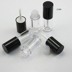 Image 5 - 20x2.5 ml 5 ml mini cosméticos cílios vazios lábio gloss tubo eyeliner frascos garrafa maquiagem recipiente organzier com escova plugues