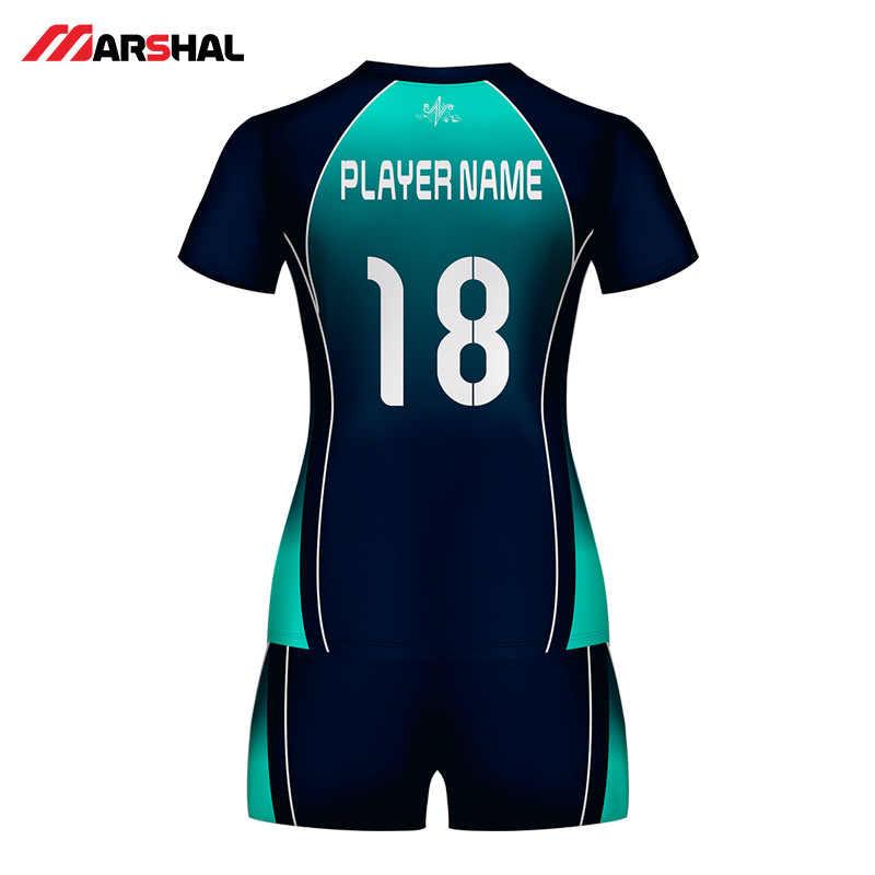ผู้หญิงผู้ชายวอลเลย์บอลชุดกีฬาชุดหญิงที่กำหนดเอง Breathable Volley Ball เสื้อผ้าวอลเลย์บอล JERSEY