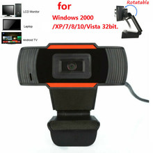 Zwarte Hd Webcam 720 P Usb Roterende Camera Video-opname Web Camera Met Microfoon Voor Pc Computer Laptops Voor Live streamen(China)