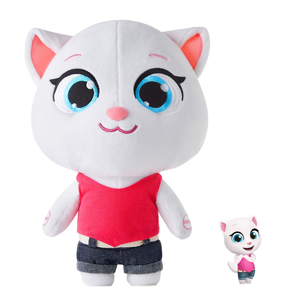 Electronic Vocal Plush Cat Toys Stuffed Angela Talking Tom And Friends Dolls Soft Stuffed Sounding Animal  Gift For Kids Child