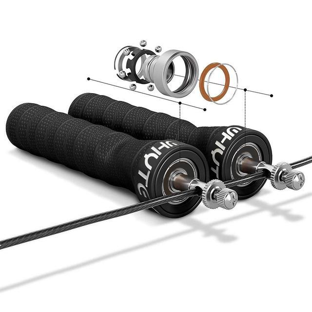 HiMISS Skipping Rope Racing Bearing Anti-slip Sweat Absorption Rope PU Belt handle smooth rotation 3M 2