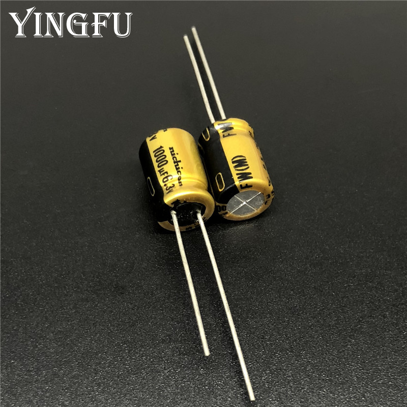 20Pcs/Lot 1000uF 6.3V NICHICON FW Series 8x11.5mm 6.3V1000uF HiFi DIY Audio Capacitor