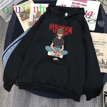 Stranger Things Season 3 bluza z kapturem jedenaście ponadgabarytowa bluza z grafiką mężczyźni kobiety śmieszne bluzy ubrania w stylu Harajuku kaptur kobieta mężczyzna tanie tanio DAYUHU CN (pochodzenie) Pełna Na co dzień Drukuj REGULAR STANDARD COTTON Modalne Szczupła NONE