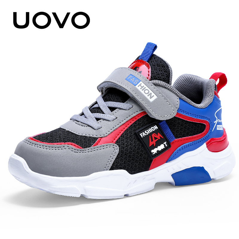 UOVO Kids Sport Shoes Boys And Girls Running Shoes 2020 Autumn Breathable Mesh Shoes Fashion Children Sneakers #28-39