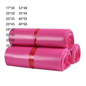 Product Package Envelope Bags Courier Bag Plastic Shipping Mailers in Bulk Pink Roll Wrap