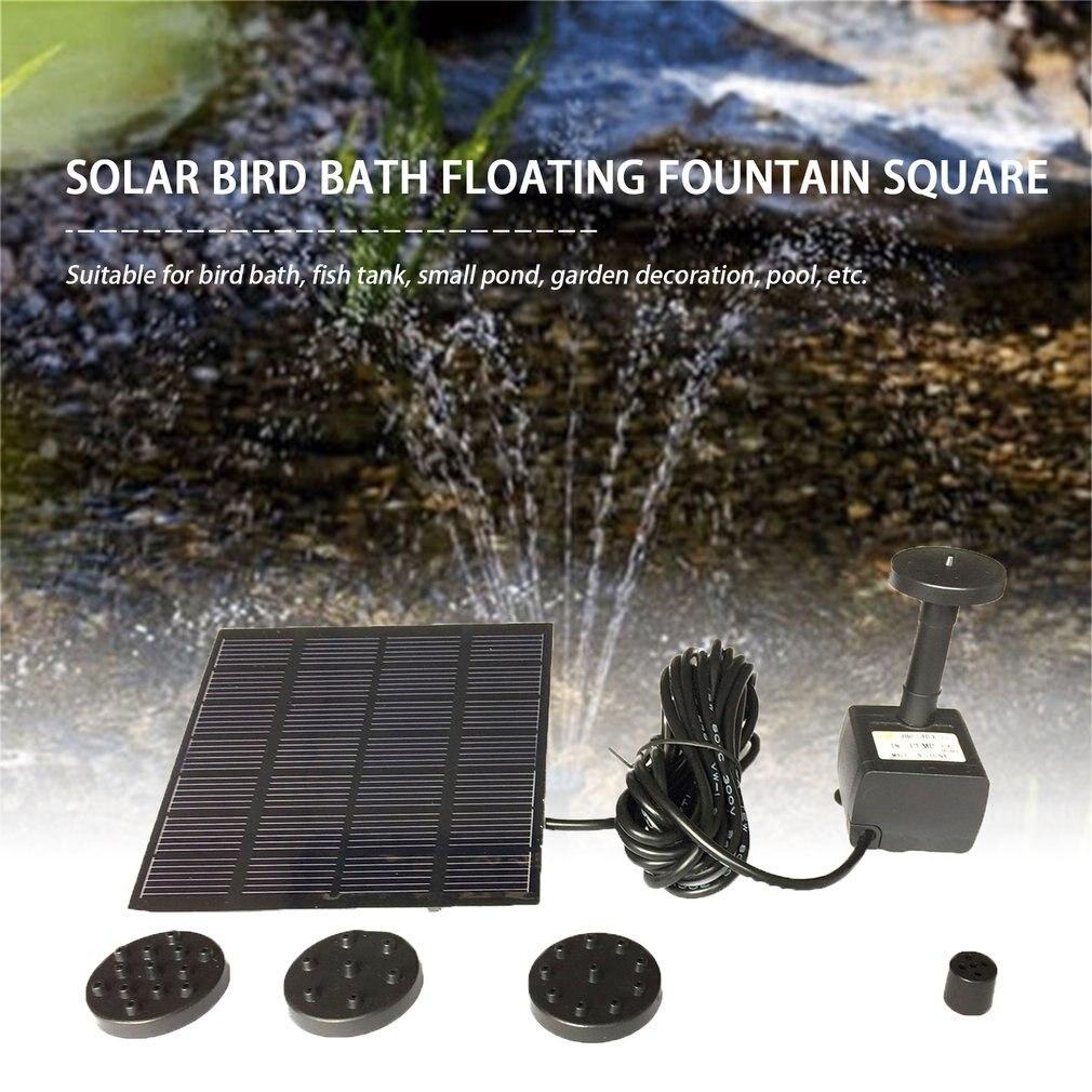 Мода квадрат форма солнечные батареи панель вода насос комплект фонтан бассейн сад пруд погружной полив птица ванна бак набор падение доставка