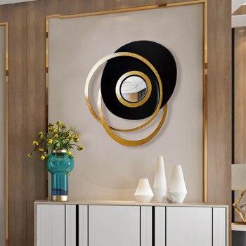 European Luxury Wrought Iron Abstract Geometric Decorative Mirror 2