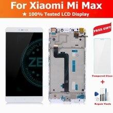 עבור שיאו mi Mi מקסימום LCD תצוגה + מסגרת + מגע מסך פנל מלא LCD Digitizer עבור Mi מקסימום החלפה חלקי תיקון