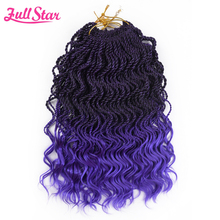 Full Star Ombre braiding hair Senegalese twist hair crochet braids synthetic crochet braid hair 14″ 35 strands /pack ends curly