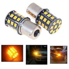 2 pces 1156ba15s alta potência 360 graus brilho âmbar amarelo 33 smd 2835-lâmpada led frente transformar luzes de sinal indicador de direção da lâmpada