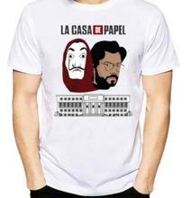 La Casa De Papel Dali Mask Printed T shirts Men Women White Summer Short Sleeved Tees