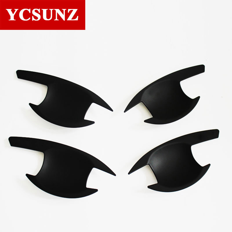 2019 For Mitsubishi L200 Black Door Handles Inserts Trim For Mitsubishi L200 Triton 2015 -2019 Pickup L200 Handle Bowls Ycsunz image