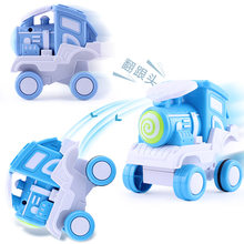 Kawaii Presses The Foot Will Rotate The Children's Toy Pull Back Car Train Toy Children Funny Anti-stress Action Small Train Toy(China)