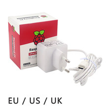 Original Raspberry Pi 4 Official USB-C Power Supply 5.1V 3A White Power Charger Power Adapter for Raspberry Pi 4 Model B(China)
