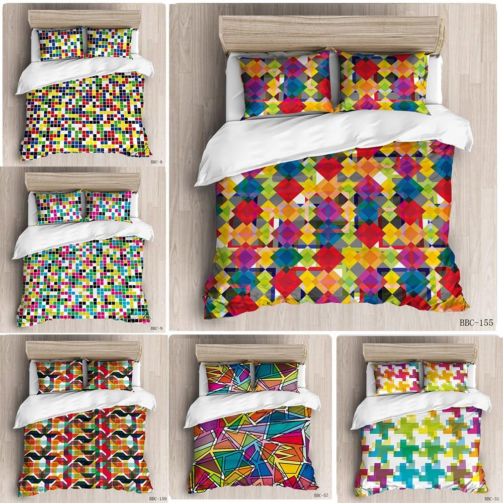 Mandala Bedding Set Bohemia Geometric Irregular Duvet Cover for Adults Nordic 150 Bed Set Bed Linen 3d Quilt Home Textiles 3PCS