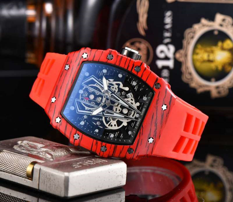 Luxury Richard Wristwacth Top Brand RM 1: 1 Same Quartz Mechanical Watchs Men's 2020 Watches Relogio Masculino Water Resistant