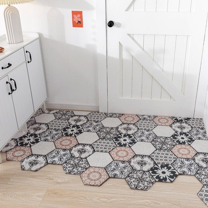 Creativo geometria Esagonale Ingresso tappeto IN PVC anello di filo mat INS Porta stuoia tappetino soggiorno bagno non-tappeto antiscivolo tappeto