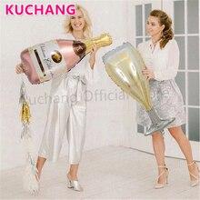 2 шт большой размер бутылка для шампанского надувные шары из алюминиевой фольги украшения для свадьбы, дня рождения, вечеринки