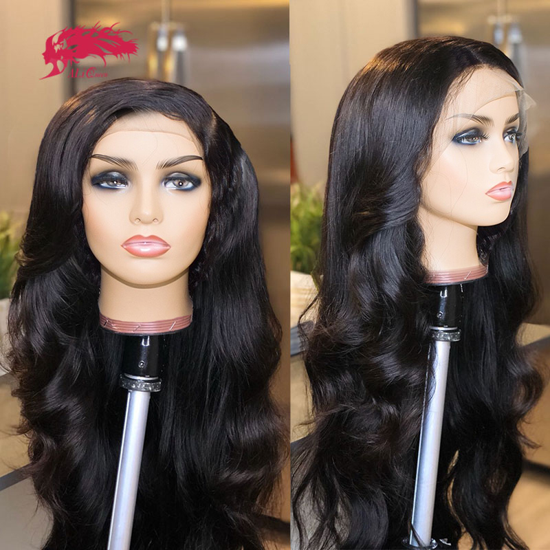 Transparent HD Lace Wigs Peruvian Body Wave Bundles With Lace Closure Wig Remy Hair Bundle With Lace Frontal DIY Human Hair Wigs