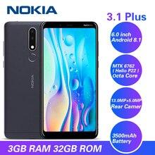 Original Nokia 3.1 Plus 4G Smartphone 6.0'' Android 8.1 MTK