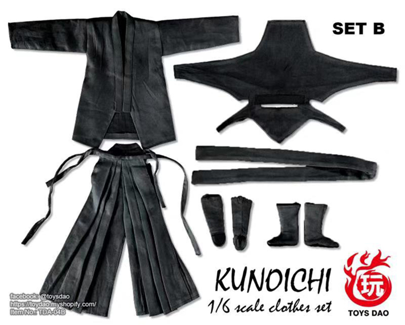 1//6 Scale Female Ninja  Kunoichi Full Clothes Set Toys Dao Action Figure Collect