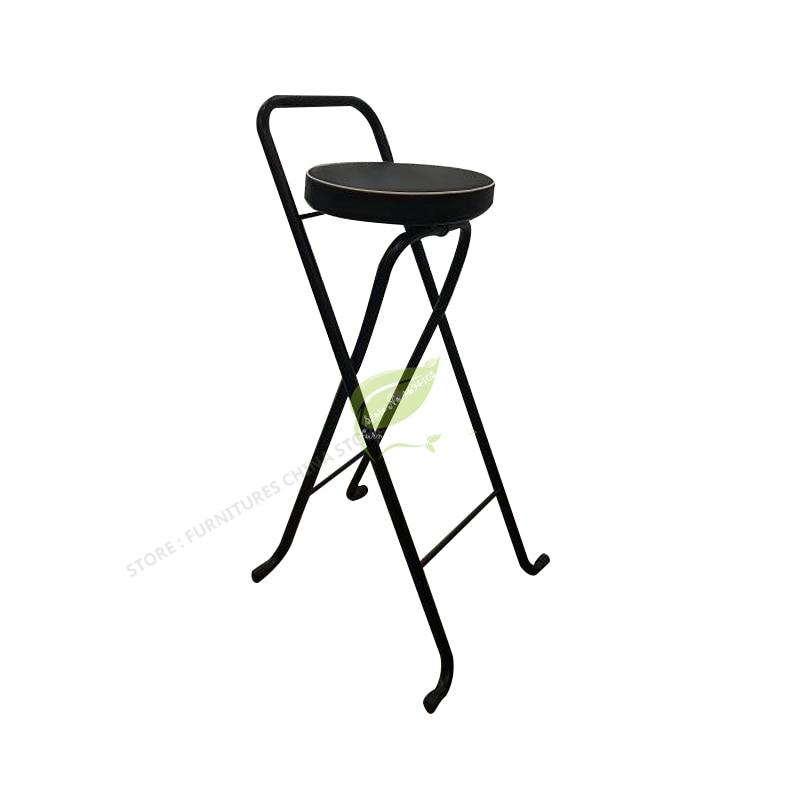 Iron Bar Chair Stool Bar Tabouret De Bar Bar Beauty Salon Furniture Dotomy Ultralight Foldable Fishing Chair Outdoor Foldable