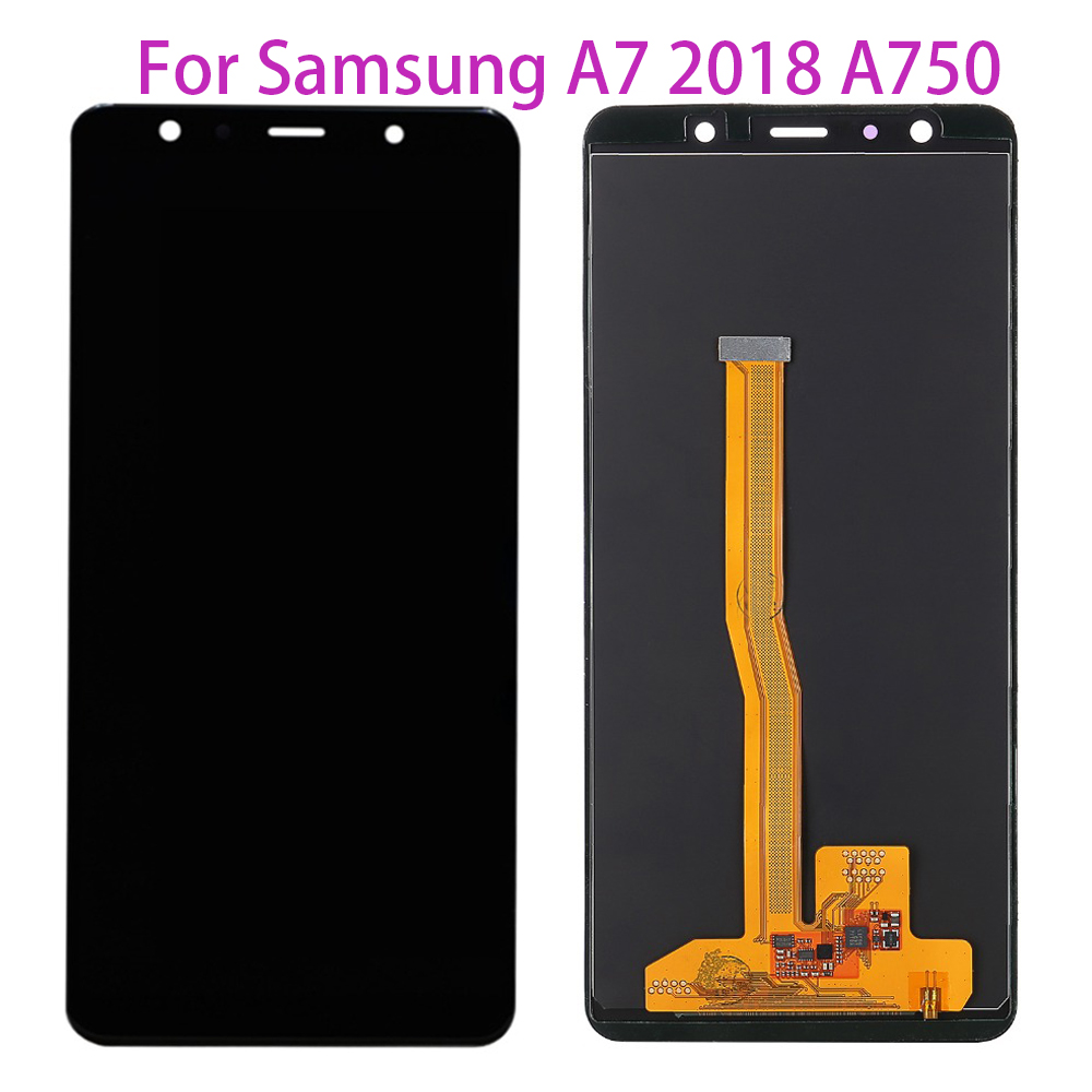 TFT LCD For <font><b>Samsung</b></font> <font><b>Galaxy</b></font> <font><b>A7</b></font> <font><b>2018</b></font> A750 A750G SM-A750F SM-A750FN Touch Screen Digitizer LCD <font><b>Display</b></font> For <font><b>Samsung</b></font> <font><b>A7</b></font> A750F image