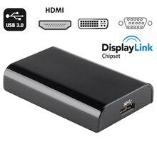 Adaptador de pantalla múltiple displaylink USB 3,0 a HDMI, VGA, DVI, convertidor para windows 10/3,0, apple mac os