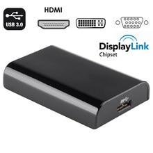 USB 3.0 a HDMI VGA DVI Multi Display Adapter displaylink USB 3.0 a VGA DVI ALL'ADATTATORE del Convertitore per windows 10/8/7 apple mac os