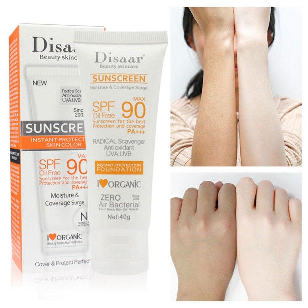 Отбеливающий солнцезащитный крем для лица и тела, солнцезащитный крем с УФ защитой SPF90 + Дневные кремы и увлажнители      АлиЭкспресс