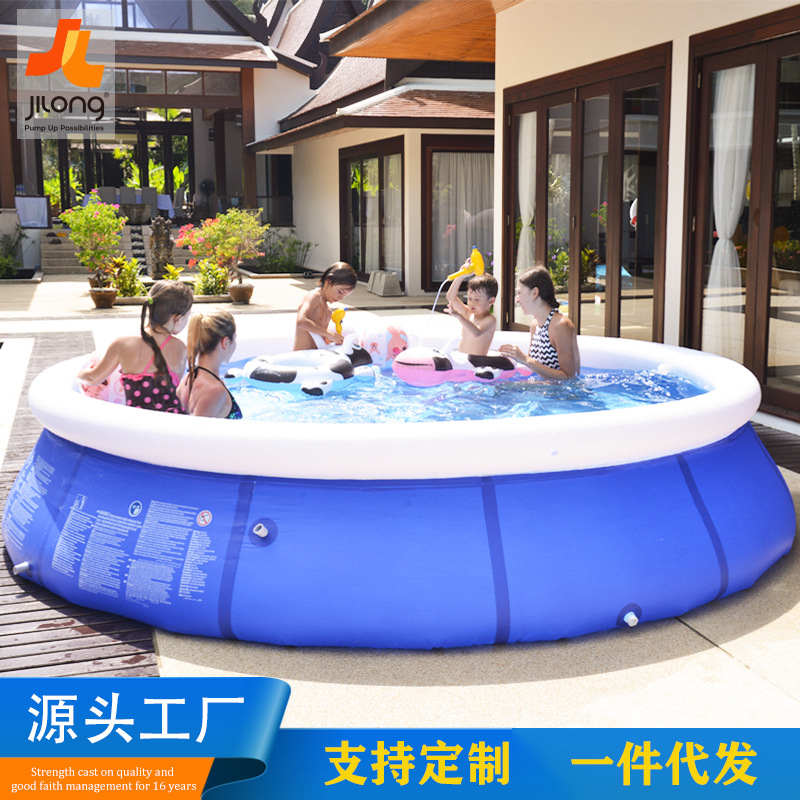 Round Bracket Swimming Pool Piscina Inflavel Adulto Outdoor Swimming Pool Large Children's Piscina Grande