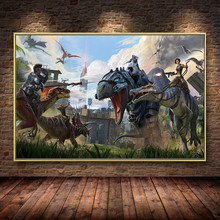 Ark Survival Evolved Hit NEW Game Oil Painting on Canvas Posters and Prints Cuadros Wall Art Pictures For Living Room Decor