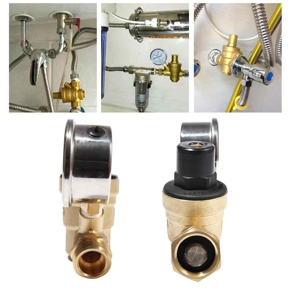 """3/4 """"المياه منظم ضغط صمام مقياس الرصاص النحاس قابل للتعديل RV ND20 منظم ضغط المياه تصفية صافي 0-160PSI أدوات"""