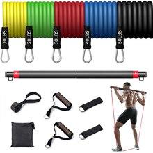 Резиновая лента для фитнеса, улучшенная эластичная лента для йоги, пилатеса, оборудование для фитнеса