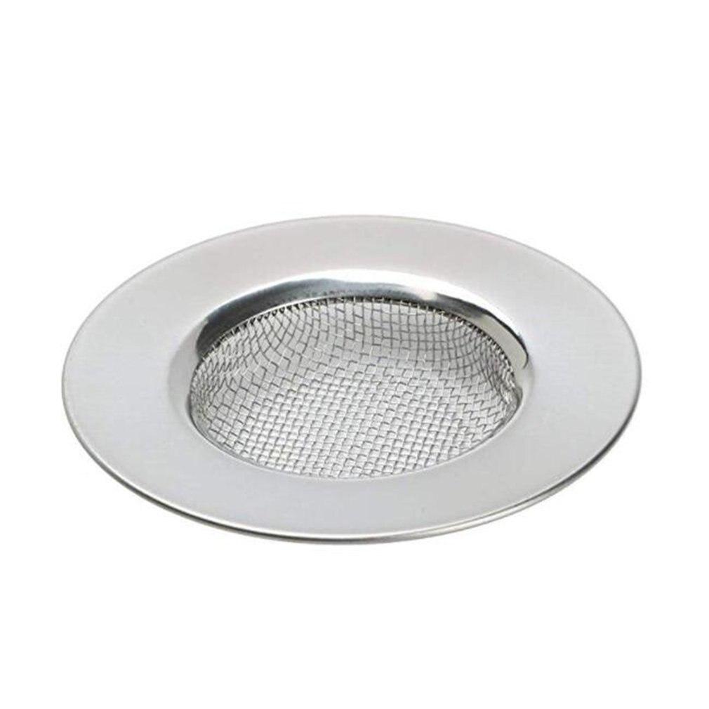 Stainless Steel Mesh Sink Strainer Drain Stopper Kitchen Filter Bath Hair Traps