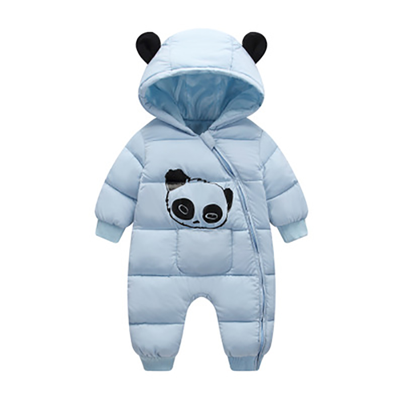 Baby Rompers Winter Cotton Cartoon Panda Hoodies For Infant Clothing Toddler