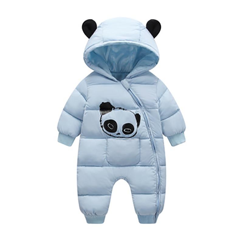 Monos con capucha de invierno de bebé Panda lindo de algodón grueso traje cálido mono recién nacido mono traje de nieve niños ropa CL2092
