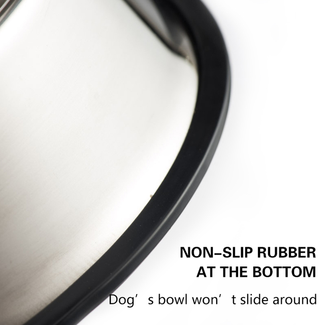 Dog Cat Bowls Stainless Steel Non-slip Durable Anti-fall Dogs Feeding Bowls for Small Medium Dogs Cat Placemat Feeder Pet 3